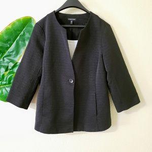 Eileen Fisher Textured Black Blazer